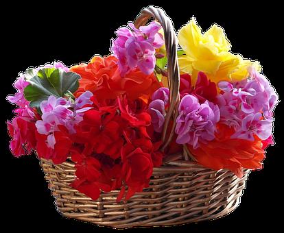 Basket, Bouquet, Flower, Easter, Ornament, Petal
