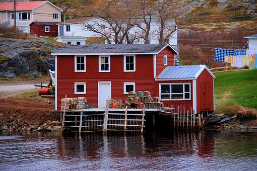 House, Outdoors, Water, Bungalow, Fishing Village