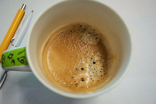 Cup, Coffee, Espresso, Food, Drink, Office, Cafe