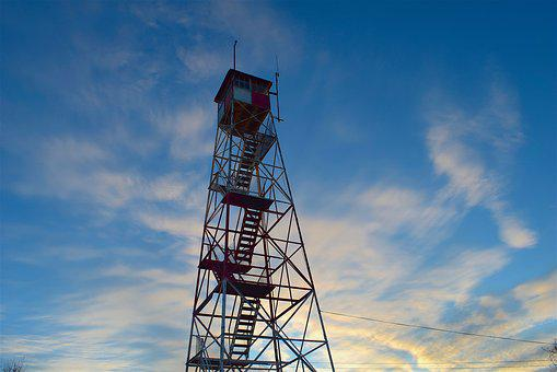 Tower, Sunset, Sky, Clouds, Light, Evening, Silhouette