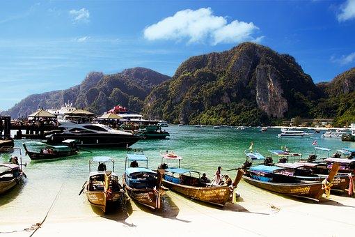 Travel, The Coast, Boat, Sea, Island, Thailand, Exotica