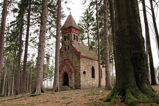 Church, Chapel, Forest, Głuchołazy, Saint Anne