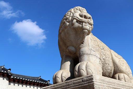 Gyeongbok Palace, Republic Of Korea, Traditional, Tiger