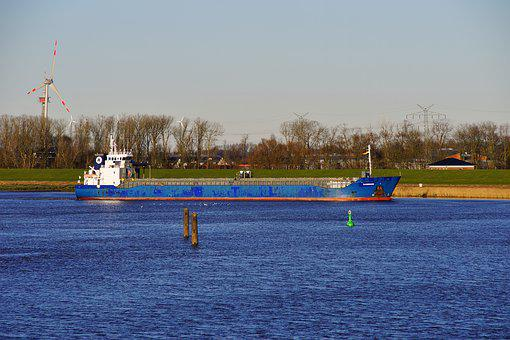 Waters, Ship, Transport System, Industry, River