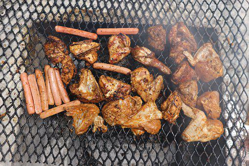 Barbecue, Meat, Food, Cooking, Flame, Meal, Charcoal