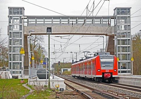 Railway Station, Platform, Walk, Transfer, Elevator