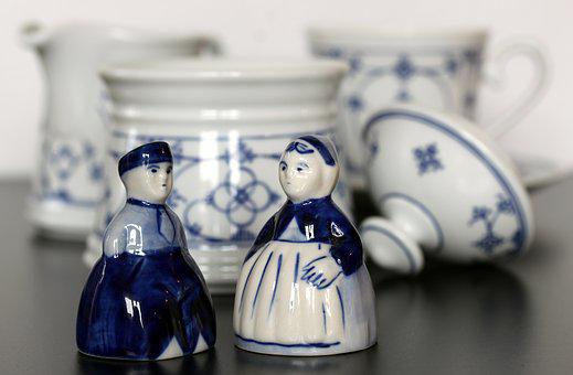Tableware, Indian Blue, East Frisia, Kitchen, Porcelain