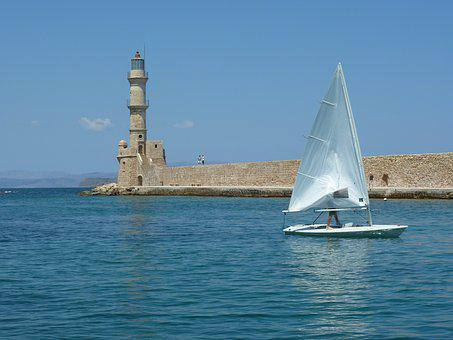 Body Of Water, Sea, Travel, Nautical, Sky, Windsurfing
