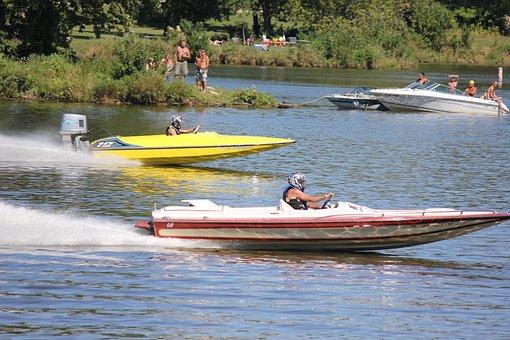 Water, River, Boat, Summer, Travel, Sport, Recreation