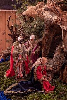 Three Kings, Nativity Scene, Christmas Crib Figures