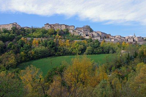 Town, Urbino, Nature, Panoramic, Landscape, Travel