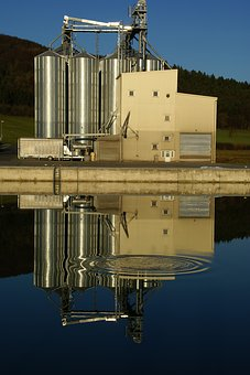 Industrial Building, Channel, Water