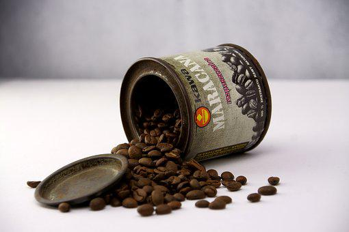 Coffee, Old, The Drink, Container, Grains, Caffeine