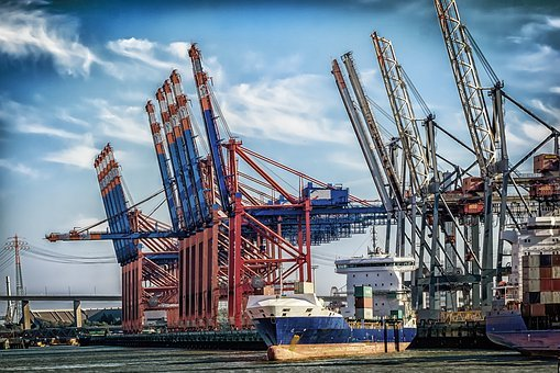 Hamburg, Port, Terminal, Cranes, Container Terminal