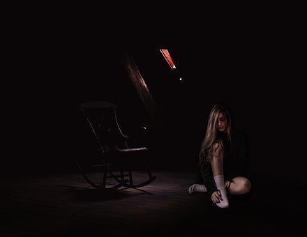 Dark, People, Performance, Adult, Woman, Shadow, Horror