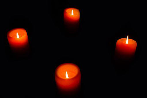 Candle, Candlelight, Flame, Red, Orange, Fire, Burn
