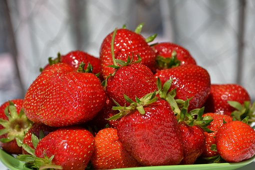 Strawberries, Fruit, Red, Summer, Health