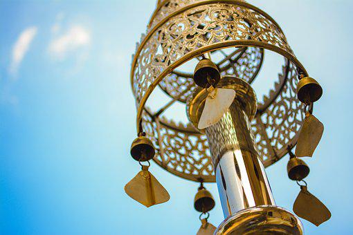 Sky, Gold, Outdoors, Fun, Lamp, Old, Bright, Decoration