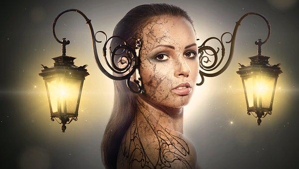 Fantasy, Portrait, Lantern, Light, Beauty, Mystical