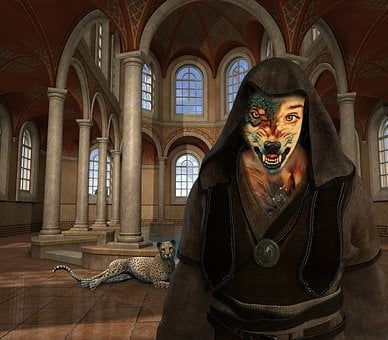 Art, Church, Werewolf, Gothic, Nature, Cathedral, Scary