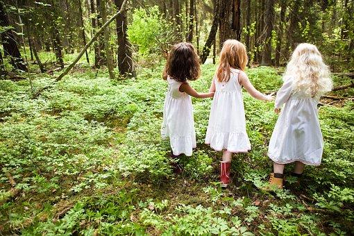 Dress, Nature, Girl, Fashion, Children, Wood, Outdoor