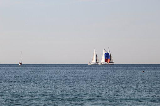 Water, Sea, Sailboat, Sail, Ocean, Ship, Yacht