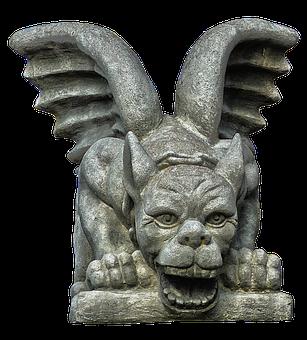 Sculpture, Figure, Gnome, Dragon, Stone Figure