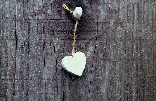 Heart, Decoration, Boards, Wooden, The Background