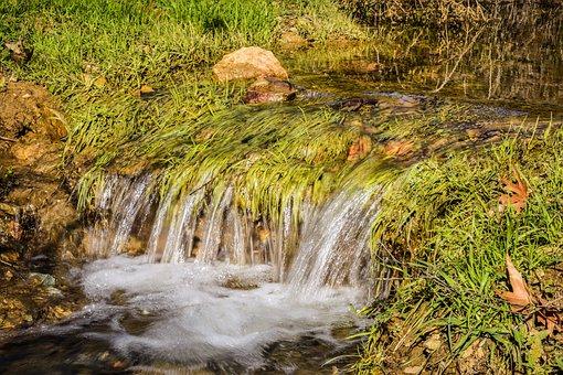Water, Nature, Stream, Grass, Scenery, Winter, Vavla