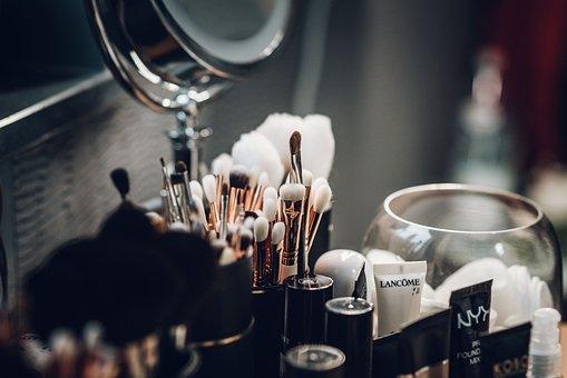 Glass, Makeup, Cosmetics, Woman, Face, Portrait