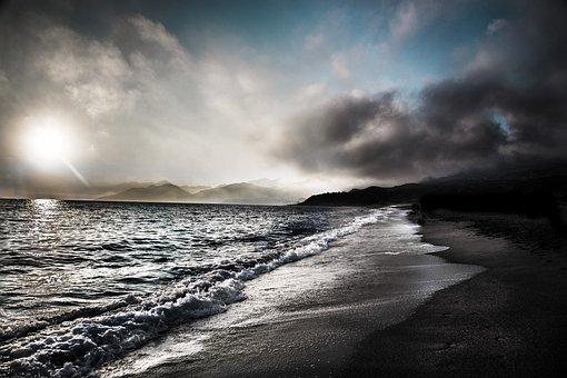 Body Of Water, Storm, Sea, Nature, Ocean, Branding