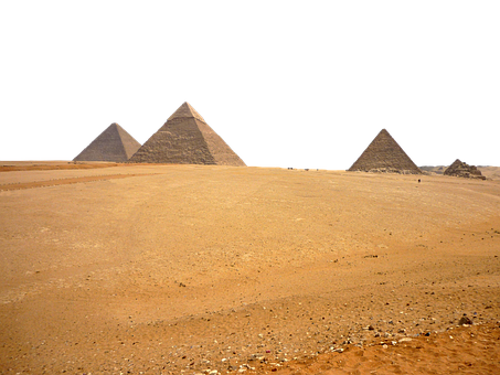Pyramids, Egypt, Desert, Cairo, Isolated, Transparent