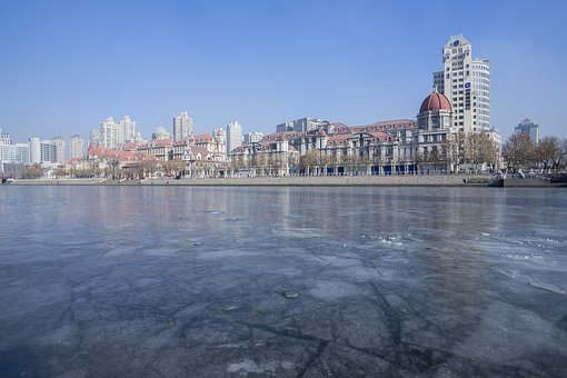 City, Waters, Building, A Bird's Eye View, Tourism, Ice