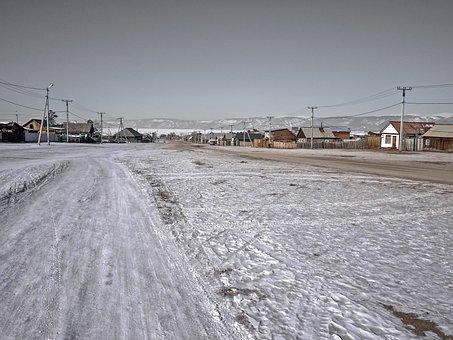 Winter, Sea, Waters, Snow, Frozen, Nature, Cold, Russia