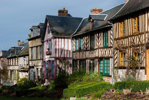 House, Architecture, Normandy, Window, Roof, Wood