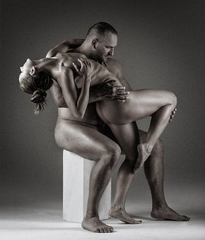 Adult, Nude, People, Man, Two, Art, Woman