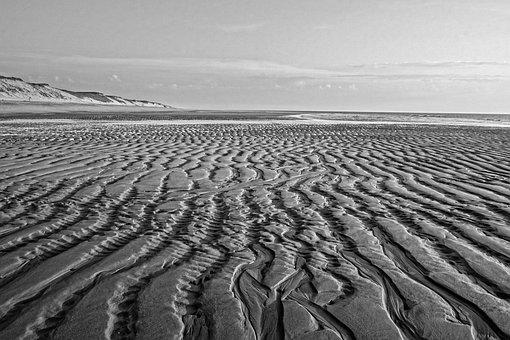 Sand, Beach, Coast, Waters, Sea, Ocean, Water, Ebb, Dry
