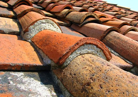 Roof, Brick, Old, The Structure Of, Clay