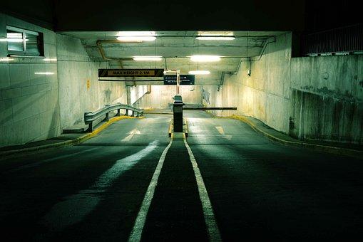 Empty, Transportation System, Light, Parking Lot