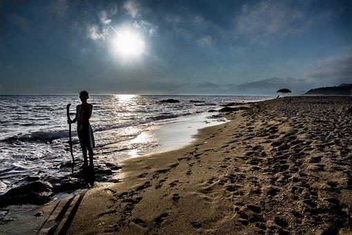Sea, Body Of Water, Coast, Sunset, Sand