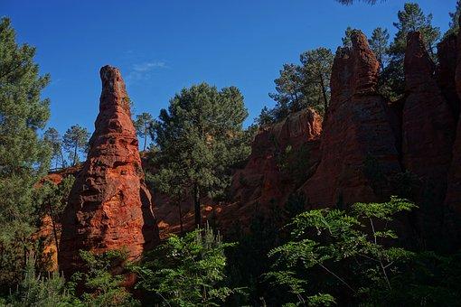 Travel, Nature, Sky, France, Roussillon, Blue, Sky Blue