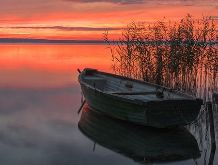 Boat, Sunset, Dawn, Nature, Waterfront, Travel, Light