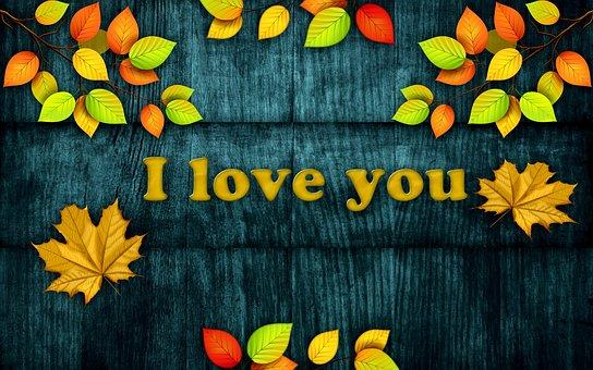 Pattern, I Love You, Background, Color, Blue