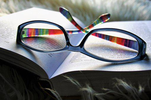 Reading, Relaxation, Glasses, Lens, Sight, Closeup
