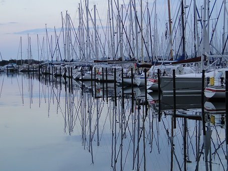 Waters, Reflection, Pier, Lake, Port, Sky, Sea, Coast