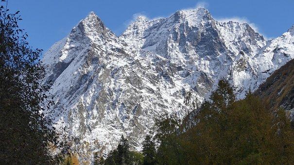 Mountain, Nature, Snow, Mountain Peak, Landscape, Sky