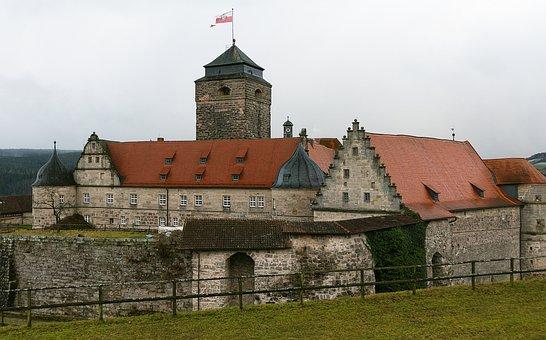 Fortress, Castle, Rosenberg, Kronach, Solid, Old