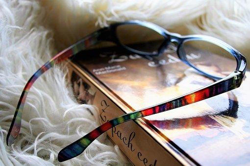 Reading, Glasses, Closeup, Book, Vacations, Read