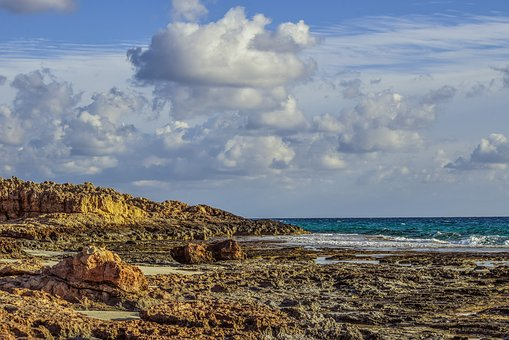 Rocky Coast, Sky, Clouds, Nature, Landscape, Travel
