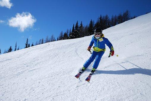 Snow, Winter, Sport, Skier, Mountain, Junior, Kid